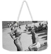 A Man Proposes On The Beach Weekender Tote Bag