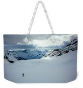 A Man Ski Touring Near Icefall Lodge Weekender Tote Bag