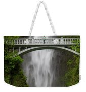A Man Stands On The Benson Bridge Weekender Tote Bag
