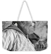 A Man With A Purpose Monochrome Weekender Tote Bag