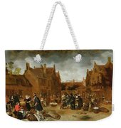 A Marketplace In Winter, 1653 Weekender Tote Bag