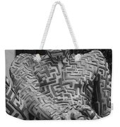 A Maze Ing Man 1 Black And White Weekender Tote Bag