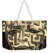 A Maze Ing Man 3 Sepia Weekender Tote Bag