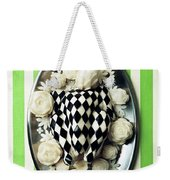 A Meal With Painted Chicken And Eggplant Weekender Tote Bag