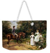 A Meeting By A Stile  Weekender Tote Bag by Heywood Hardy