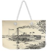 A Mississippi Steamer Off St Louis From American Notes By Charles Dickens  Weekender Tote Bag by EH Fitchew