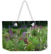 A Mixture Of Flowers Bloom In Hillside Weekender Tote Bag