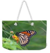 A Monarch Butterfly At Rest Weekender Tote Bag