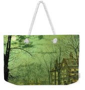 A Moonlit Road Weekender Tote Bag