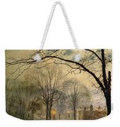 A Moonlit Stroll Bonchurch Isle Of Wight Weekender Tote Bag by John Atkinson Grimshaw