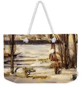 A Morning Snow On The Hudson River Weekender Tote Bag