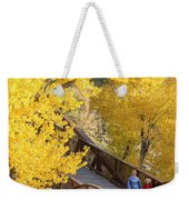 A Mother And Daughter Walking Weekender Tote Bag