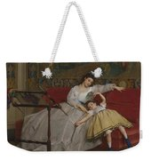 A Mother And Her Young Daughter Weekender Tote Bag