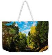 A Narrow Autumn Road Weekender Tote Bag