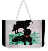 A Newfoundland Dog And A Labrador Retriever Weekender Tote Bag