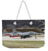 A Northrop F-5e Tiger Of The Swiss Air Weekender Tote Bag
