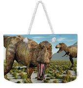 A Pack Of Tyrannosaurus Rex Dinosaurs Weekender Tote Bag