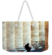 A Painting Alone Among The Vatican Columns Weekender Tote Bag