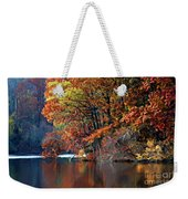 A Painting Barney's Autumn Pond Weekender Tote Bag