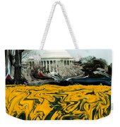 A Painting Jefferson Memorial Dali-style Weekender Tote Bag