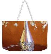 A Painting Silver Vase On Table Weekender Tote Bag