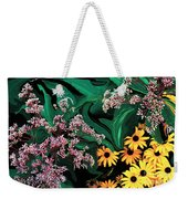 A Painting Wild Flowers Dali-style Weekender Tote Bag