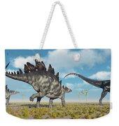 A Pair Of Stegosaurus Dinosaurs Weekender Tote Bag