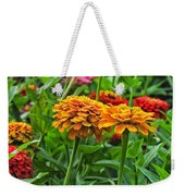 A Pair Of Yellow Zinnias 03 Weekender Tote Bag