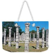 A Panoramic View Of Columns Surround Weekender Tote Bag