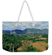 A Panoramic View Of The Valle De Weekender Tote Bag