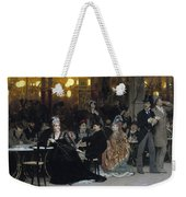 A Parisian Cafe Weekender Tote Bag by Ilya Efimovich Repin
