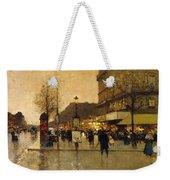 A Parisian Street Scene Weekender Tote Bag by Eugene Galien-Laloue