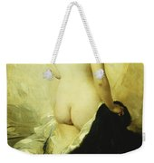 A Partially Draped Nude Weekender Tote Bag by Charles Chaplin