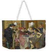 A Party At Table Weekender Tote Bag
