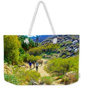 A Pause On Lower Palm Canyon Trail In Indian Canyons Near Palm Springs-california Weekender Tote Bag