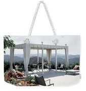A Pavilion In The Backyard Of Bruce Macintosh's Weekender Tote Bag