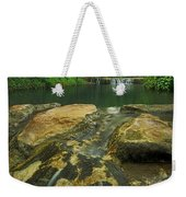 A Peaceful Early Morning At Little Niagra Waterfall A Weekender Tote Bag