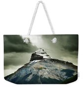 A Peak Of A Mountain Top In The Rocky Weekender Tote Bag