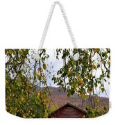 A Peak Of Fall Red Barn Weekender Tote Bag