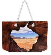 A Peek Into Monument Valley Weekender Tote Bag