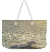 A Person Hiking On Rocky Shore Weekender Tote Bag