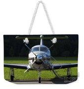 A Pilatus Pc-12 Private Jet Weekender Tote Bag