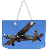 A Pilatus Pc-6 Of The Swiss Air Force Weekender Tote Bag