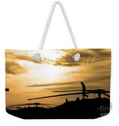 A Pilot Conducts A Pre-flight Weekender Tote Bag