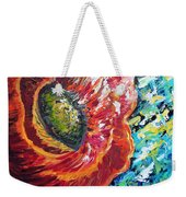 A Poppy Takes Center Stage Weekender Tote Bag