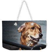 A Portrait Of A Golden Retriever Weekender Tote Bag