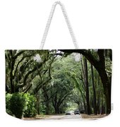 A Pretty Tree Covered Road Somewhere On Hilton Head Island Weekender Tote Bag