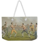 A Prize Fight Aquatinted By I Clark Weekender Tote Bag by Henry Thomas Alken