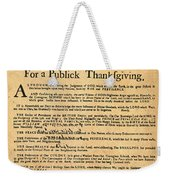 A Proclamation Of Thanksgiving Weekender Tote Bag