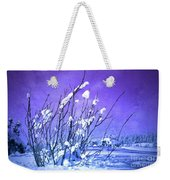 A Purple Winter Weekender Tote Bag